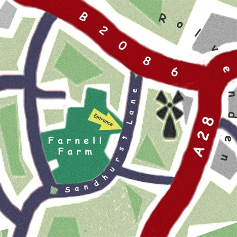Farnell Farm Close Up Map